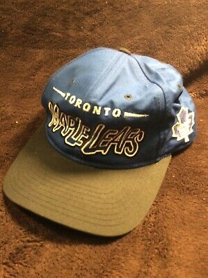 a6d9f527 Vintage Toronto Maple Leafs Starter NHL Snapback Hat Cap Blue Youth STARTER