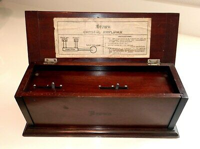 """S G Brown Crystal Amplifier """"Marconi Era"""" for galena cats whisker receiver sets"""
