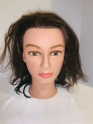 Marianna Miss Suzie-Kin Brown Hair Cosmetology Human Hair Mannequin Head 14901