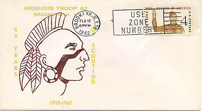 US 1962 Event Cover Boy Scouts 50 Years Troop 62 Brooklyn New York