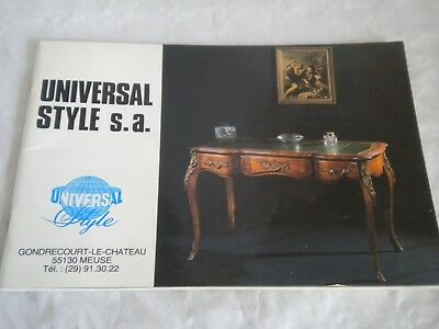 Vintage catalogue High Quality french Furniture Univeral Style S.A