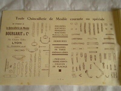 Vintage catalogue Furniture Fixings and fittings embellishments Bourgarit 1931