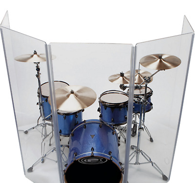 Drum Shield/Drum Screen Panels 5 Panels 2ftX5ft with Flexible Hinges
