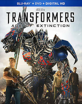 Transformers: Age of Extinction (Blu-ray/DVD, 2014, 2-Disc Set, Includes Digita…
