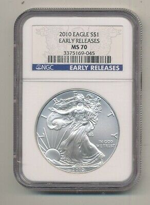 2010 American Silver Eagle 1 oz Coin NGC MS 70 Early Releases Exact Shown