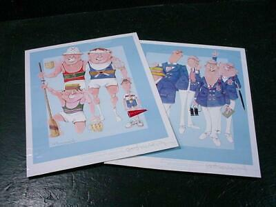 NobleSpirit NO RESERVE {3970}2x Lithographs Signed by GR Cheeseborough