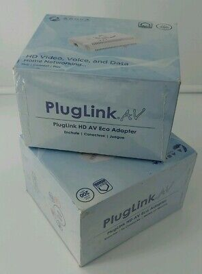Voice /& Data NEW 200 Mbps Asoka Pluglink PL9661-I3 HD AV Eco Adapter Video