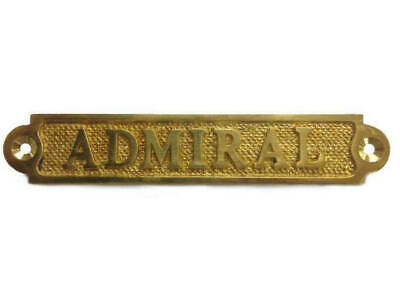 "Solid Brass Admiral Sign 5"" Nautical Decorations For A Party Nautical Home Desig"