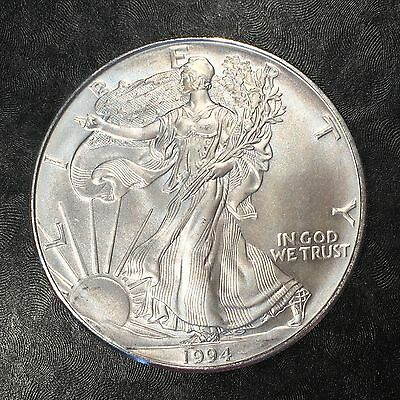 1994 Uncirculated American Silver Eagle US Mint Issue 1oz Silver BLEMISH #E682