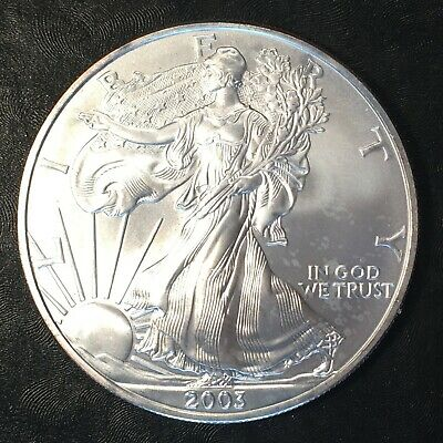 2003 Uncirculated American Silver Eagle US Mint Issue 1oz Pure Silver #H196