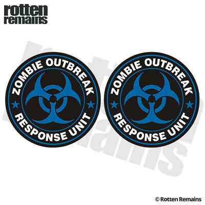 Biohazard Response Team License Plate Zombie Hunting Permit Blue United States