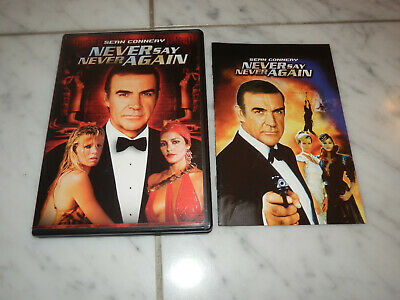 Never Say Never Again Dvd Sean Connery James Bond 007 Rare Oop