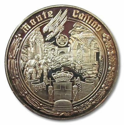 50mm Silver medal WW2: The battle of Monte Casino, january - may 1944
