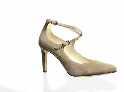 62c96a4335 Nine West Womens Hannley Natural Suede Ankle Strap Heels Size 10 (215564)