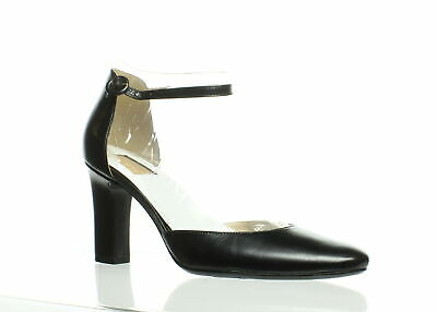 6f18ed0fe6a7 NATURALIZER WOMENS GIANNA Black Ankle Strap Heels Size 9.5 (C