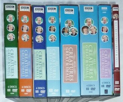 BBC All Creatures Great and Small DVD Series 1 - 7 + Specials Set Lot
