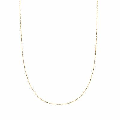14k Solid Yellow Gold Lite Pendant Rope Chain Necklace 18 inch No Reserve
