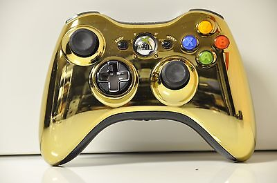 Official Genuine OEM Microsoft xbox 360 Wireless Controller Chrome Gold
