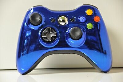 Official Microsoft xbox 360 Wireless Controller Chrome Blue