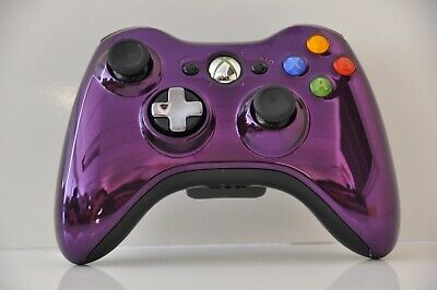 Official Microsoft xbox 360 Wireless Controller Chrome Purple