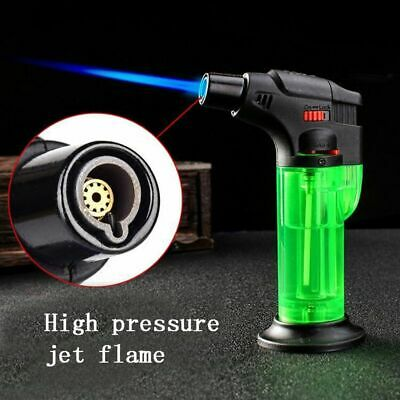 Refillable Lighter Butane Gas Jet Flame Torch Welding Camping Cigar torch NO GAS
