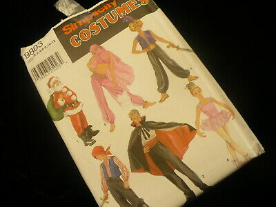 Simplicity costumes no. 9803 boys & girls Pants tops hats bodysuit 6 outfits