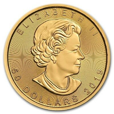 Twenty (20) One Ounce 2019 Canadian Maple Leaf Gold Coins - FREE shipping