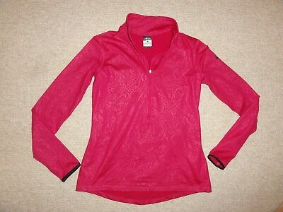 22f3c8b313cde Nike Women's Pro Warm Embossed Heights Vixen Half Zip Shirt 695578 sz LARGE