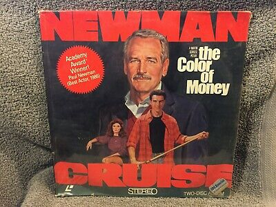 """Laser Disc """"The Color of Money"""" Paul Newman/Tom Cruise,12"""" Disc sealed NOS"""