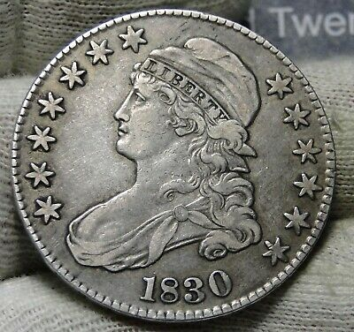 1830 Capped Bust Half Dollar - 50 Cents .Nice Coin .. Free Shipping  (7965)