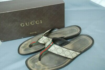 f4f9a9f47 GUCCI mens Guccissima thong flip flop sandals shoes Gucci 12 1 2 US 13 1