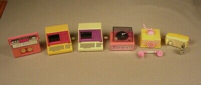 1980's Barbie Doll White Knob Wind Up furniture toys for Dolls accessories x 6