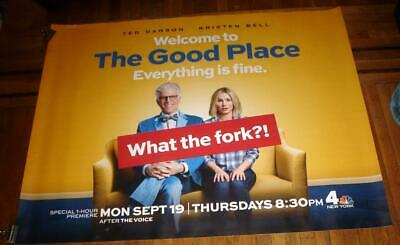 Nbc The Good Place Ted Danson Kristen Bell 5Ft Subway Poster 2016