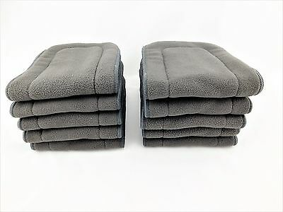 10X 5-Layer Inserts Reusable Bamboo Charcoal Liners for Baby Modern Cloth Nappy