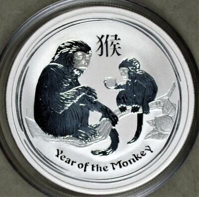 Australia 2016 Year Of The Monkey 1/2 Ounce Silver Coin