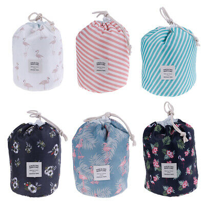 1X Drawstring Makeup Cases Storage Travel Cosmetic Pouch Toiletry Organizer Bags