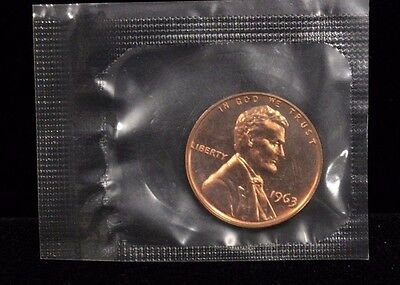 1963 1C Lincoln Gem Proof Cent in Original Mint Cello