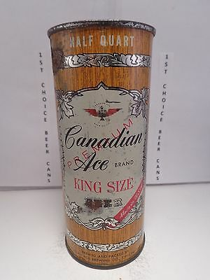 CANADIAN ACE PREMIUM 16oz FLAT TOP BEER CAN #227-24 CHICAGO