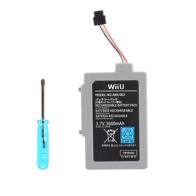 3600mAh Rechargeable Battery Pack Replacement for Nintendo Wii U Gamepad AC1748