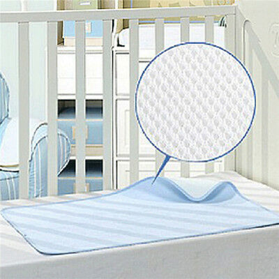 Baby Mattress Bamboo Fiber Breathable Waterproof Changing Pad Reusable B