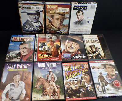 lot of JOHN WAYNE Classic Western DVD Movies some mega movie packs mostly sealed
