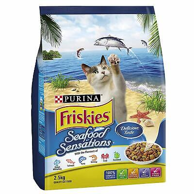 Cat Food Friskies Adult Seafood Sensations 2.5kg Protein Rich Healthy Nutritious