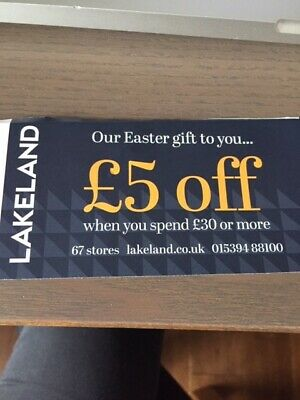 Lakeland £5 off voucher on £30 spend valid to 30th April