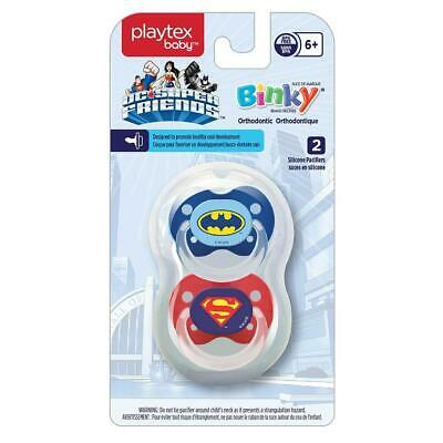 Playtex Baby Binky Orthodontic Silicon BPA-Free Pacifiers, 6+ Months, Pack of 2