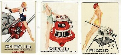 LADIES PINUPS ADS x 3  Single MODERN WIDE Swap/Playing Cards