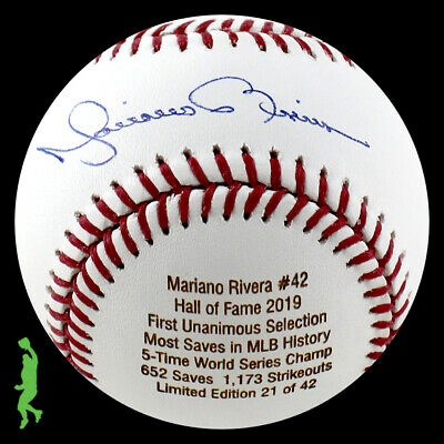 4ec4c83f265 Mariano Rivera Autographed Signed Hall Of Fame Hof 2019 Baseball Ball Jsa  Coa