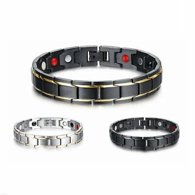 Therapeutic Energy Healing Bracelet Stainless Steel Magnetic Therapy Bracelet ~2