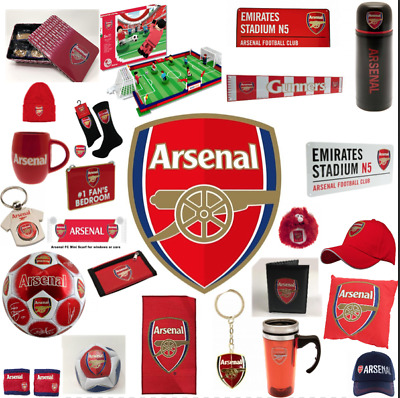 Arsenal Football Gift Mug Scarf Keyring Rug Merchandise Elf Lunch Bag Cap Key