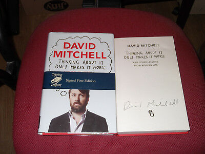 *Signed 1st Edition* DAVID MITCHELL 'Thinking About it Only Makes it Worse' Peep