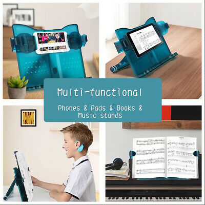Book Holder Hands Free Reading Tool Stretch Adjustable Student Office Pad Phone